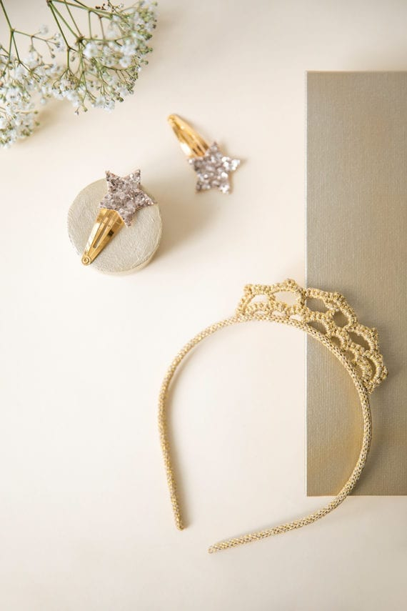Hairband Crown Gold