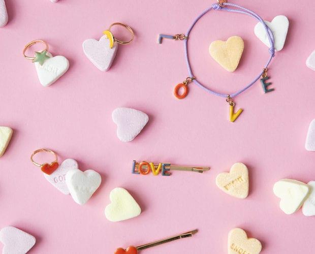 Hairpin Rings Bracelet Heart Love