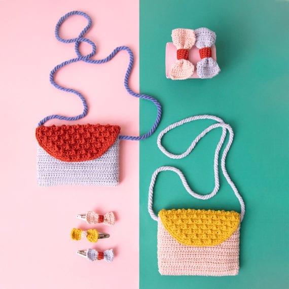 Crochet Bags Hair Clips Elastics