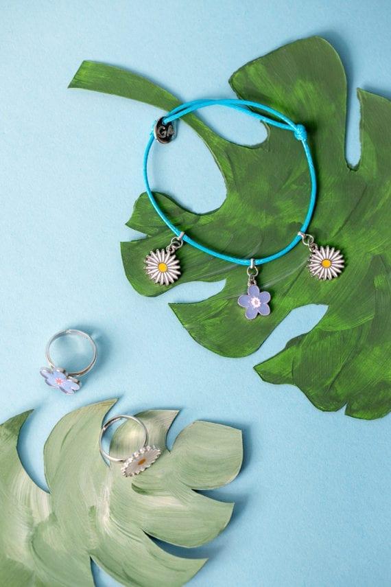 Bracelet Rings Flowers Daisy & Violet