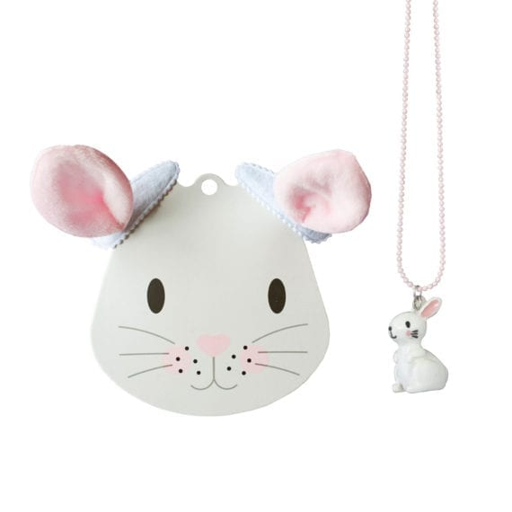 Easter Set: Bunny Necklace & Hairclips