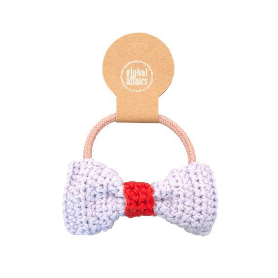 Crochet Hair Elastics Bow Lilac Packaging