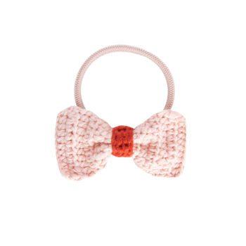 Crochet Hair Elastics Pink Rust
