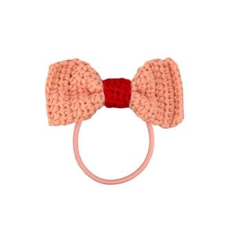 Crochet Hair Elastics Pink Rust red