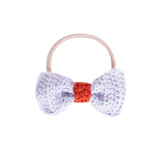 Crochet Hair Elastics Lilac Rust