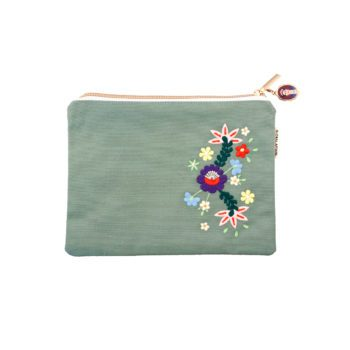 Pouch Frida Kahlo Green Front