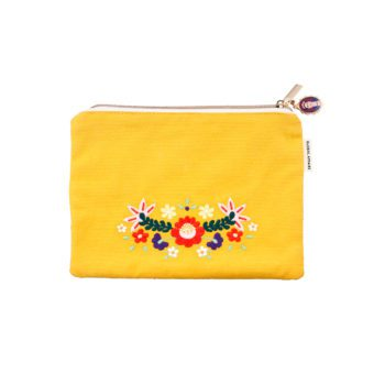 Pouch Frida Kahlo Yellow Front